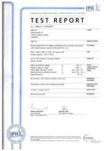 Test portasbarre cortocircuito EN 61439-2